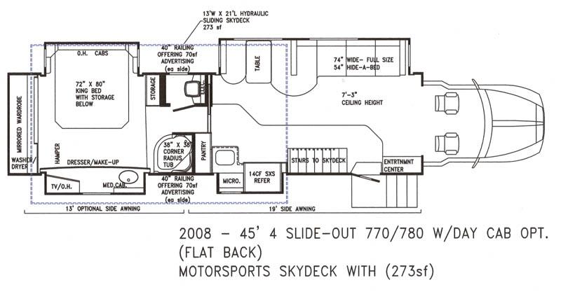 Custom motor coaches by powerhouse coach for Coach house floor plans