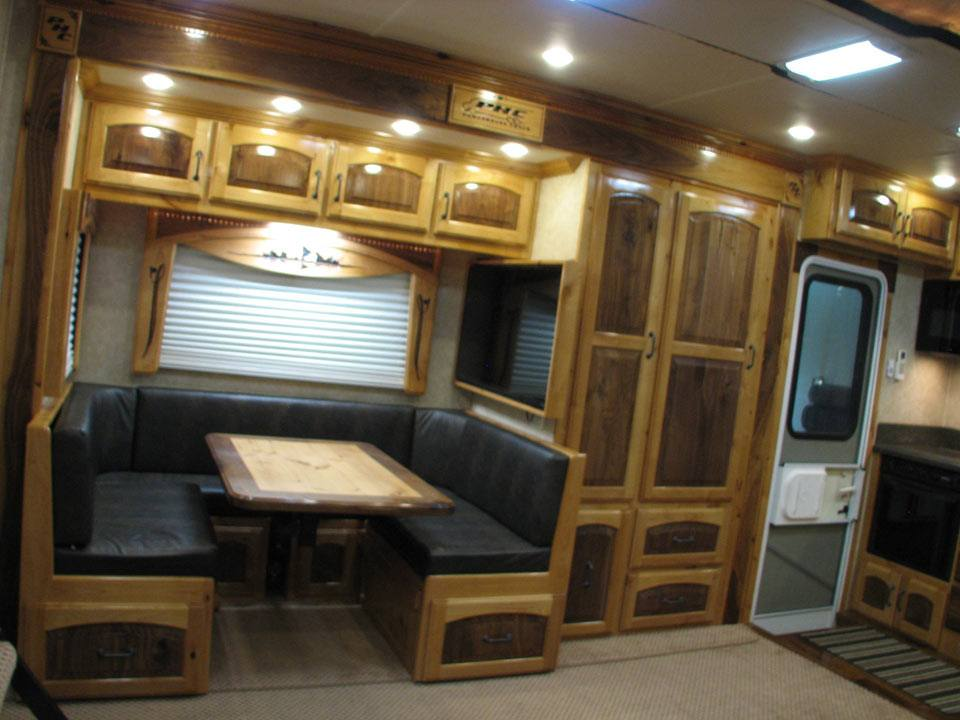 NOTHING Like a 14 foot Wide Room Queen sofa Sleeper   POWER Table sleeping  Booth OH YA 300 Sq Feet. Luxury Motor Coaches by PowerHouse Coach
